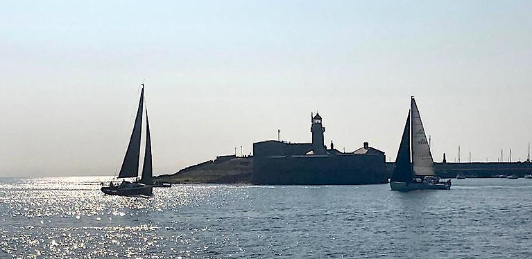 Light winds for ISORA's 12th race off Dun Laoghaire Harbour Photo: Michael Horgan