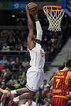 Real Madrid´s Marcus Slaughter during 2014-15 Euroleague Basketball match between Real Madrid and Galatasaray at Palacio de los Deportes stadium in Madrid, Spain. January 08, 2015. (ALTERPHOTOS/Luis Fernandez)