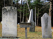 First settler, Joseph Patch, headstone at Warren Village Cemetery in Warren, New Hampshire USA.