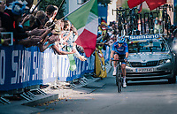 Tatiana Guderzo (ITA)<br /> <br /> WOMEN ELITE ROAD RACE<br /> Kufstein to Innsbruck: 156.2 km<br /> <br /> UCI 2018 Road World Championships<br /> Innsbruck - Tirol / Austria