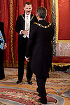 King Felipe VI of Spain and president of Argentine Republic Sr. Mauricio Macri during the gala dinner given to the President of the Argentine Republic, Sr. Mauricio Macri and Sra Juliana Awada at Real Palace in Madrid, Spain. February 19, 2017. (ALTERPHOTOS/BorjaB.Hojas)