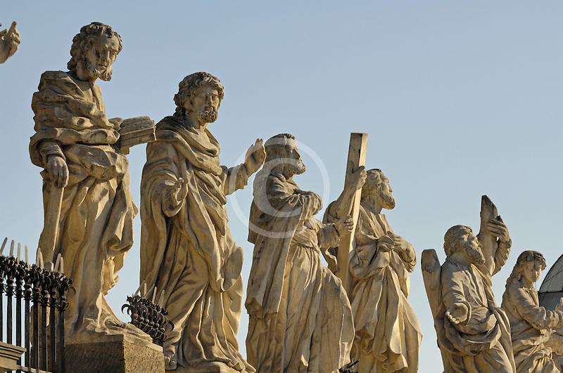 Poland, Krakow, Statues of Twelve Disciples, Church of Sts. Peter and Paul, Kosciól swietego Piotra i Pawla