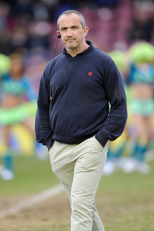 Conor O'Shea, Harlequins Director of Rugby, before the Aviva Premiership match between Harlequins and Bath Rugby at the Twickenham Stoop on Saturday 13th April 2013 (Photo by Rob Munro)
