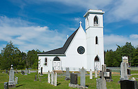Canada Peggy's Cove Nova Scotia Saint Peter's Anglican Church 1870 with cemetery in Glen Margaret near Peggy's Cove