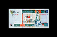 "Cuba, Havana.  ""Pesos Convertibles"", the pesos used by tourists in Cuba.  This is a 5 peso note."