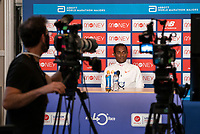 Kenenisa Bekele (ETH) speaks to the media via Zoom in a virtual and socially distanced press conference from inside the official hotel [location not disclosed] and biosecure bubble for the historic elite-only 2020 Virgin Money London Marathon on Sunday 4 October. The 40th Race will take place on a closed-loop circuit around St James's Park in central London. Wednesday 30th September 2020. Photo: Bob Martin for London Marathon Events<br /> <br /> For further information: media@londonmarathonevents.co.uk
