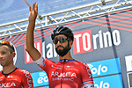 Nacer Bouhanni (FRA) Arkéa–Samsic at sign on before the start of the 101st edition of Milan-Turin 2020 running 198km from Mesero to Stupinigi (Nichelino), Italy. 5th August 2020.<br /> Picture: LaPresse/Gian Mattia D'Alberto | Cyclefile<br /> <br /> All photos usage must carry mandatory copyright credit (© Cyclefile | LaPresse/Gian Mattia D'Alberto)