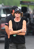Apr 24, 2015; Baytown, TX, USA; Kay Torrence mother of NHRA  top fuel driver Steve Torrence during qualifying for the Spring Nationals at Royal Purple Raceway. Mandatory Credit: Mark J. Rebilas-