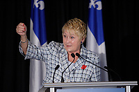Montreal (Qc) CANADA - April, 2012 File Photo - Parti Quebecois (PQ) new  candidates introduced by PQ Leader Pauline Marois