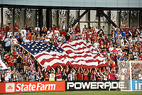 USA fans prior to ick off...USA defeated Guadeloupe 1-0 in Gold Cup play at LIVESTRONG Sporting Park, Kansas City, Kansas.