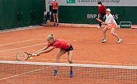 Paris, France, 5 june 2021, Tennis, French Open, Roland Garros, Womans doubles second round : Arantxa Rus (NED) and Zidansek <br /> Photo: tennisimages.com