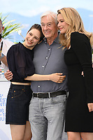 CANNES, FRANCE. July 10, 2021: Daphne Patakia, Director Paul Verhoeven & Virginie Efira at the photocall for Benedetta at the 74th Festival de Cannes.<br /> Picture: Paul Smith / Featureflash