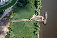 Kreetsand: EUROPA, DEUTSCHLAND, HAMBURG 26.08.2021: Tiedeelbe Konzept Kreetsand, Hamburg Port Authority (HPA), soll auf der Ostseite der Elbinsel Wilhelmsburg zusaetzlichen Flutraum für die Elbe schaffen. Das Tidevolumen wird durch diese strombauliche Massnahme vergroessert und der Tidehub reduziert. Gleichzeitig ergeben sich neue Moeglichkeiten für eine integrative Planung und Umsetzung verschiedenster Interessen und Belange aus Hochwasserschutz, Hafennutzung, Wasserwirtschaft, Naturschutz und Naherholung.
