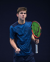Hilversum, Netherlands, December 4, 2016, Winter Youth Circuit Masters, Stijn Pel (NED)<br /> Photo: Tennisimages/Henk Koster