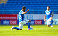 12th September 2020; Cardiff City Stadium, Cardiff, Glamorgan, Wales; English Championship Football, Cardiff City versus Sheffield Wednesday; Players take a knee pre-game