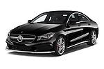 2014 Mercedes Benz CLA Class 45 AMG 4 Door Sedan angular front stock photos of front three quarter view