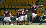 Hearts v St Johnstone...14.02.12.. Scottish Cup 5th Round Replay.Ryan McGowan celebrates as Marius Zaliukus celebrates his goal in the back.Picture by Graeme Hart..Copyright Perthshire Picture Agency.Tel: 01738 623350  Mobile: 07990 594431