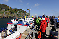 Fähre im Maseline Harbour, Insel Sark, Kanalinseln