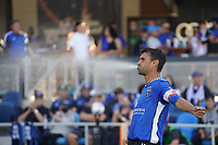 SAN JOSE, CA - JUNE 26: Chris Wondolowski #8 of the San Jose Earthquakes before a game between Los Angeles Galaxy and San Jose Earthquakes at PayPal Park on June 26, 2021 in San Jose, California.