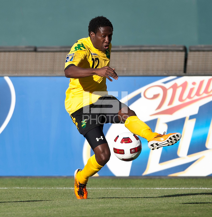 CARSON, CA – June 6, 2011: Jamaican Demar Phillips (12) during the match between Grenada and Jamaica at the Home Depot Center in Carson, California. Final score Jamaica 4 and Grenada 0.