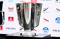11th February 2021, Auckland, New Zealand;  The PRADA Cup on display.<br /> PRADA Cup Final Opening press conference at the PRADA media centre, America's Cup Race Village, Halsey Wharf, Auckland on Thursday 11th February 2021.