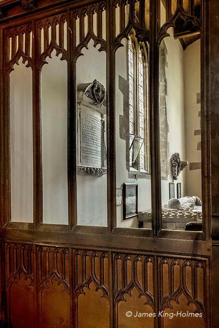 The chantry chapel of the Parish Church of St. Nicholas in Fyfield, Oxfordshire, UK. It contains the tomb of John Golafre, who willed the chantry and a stipend for a priest to say a daily Mass to his memory. The church was rebuilt after being almost destroyed by fire in 1893
