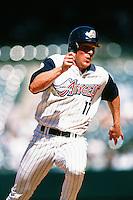 Darin Erstad of the Anaheim Angels during a game circa 1999 at Angel Stadium in Anaheim, California. (Larry Goren/Four Seam Images)