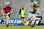 Shane Nolan, Kerry in action against Gerard Hughes, Down during the National hurling league between Kerry v Down at Austin Stack Park, Tralee on Sunday.