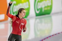 28th December 2020; Thialf Ice Stadium, Heerenveen, Netherlands; World Championship Speed Skating; 1000m ladies, Melissa Wijfje during the WKKT