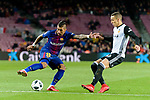 Paulinho Maciel of FC Barcelona (L) fights for the ball with Ruben Miguel Nunes of Valencia CF (R) during the Copa Del Rey 2017-18 match between FC Barcelona and Valencia CF at Camp Nou Stadium on 01 February 2018 in Barcelona, Spain. Photo by Vicens Gimenez / Power Sport Images