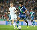 Real Madrid's Toni Kroos (l) and WfL Wolfsburg's Dante during Champions League 2015/2016 Quarter-finals 2nd leg match. April 12,2016. (ALTERPHOTOS/Acero)