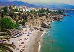 Spain, Andalusia, Costa del Sol, Nerja: beach, Playa de Calahonda | Spanien, Andalusien, Provinz Málaga, Costa del Sol, Nerja: Strand, Playa de Calahonda