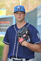 Joshua Slaats #13 of the Asheville Tourists poses during media day at McCormick Field on April 4, 2011 in Asheville, North Carolina.  Photo by Tony Farlow / Four Seam Images..
