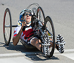 MILTON, ON, AUGUST 13, 2015. Cycling time trials, Canadian Robert Labbe.<br /> Photo: Dan Galbraith/Canadian Paralympic Committee