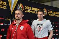 Glendale, AZ - Saturday June 25, 2016: United States arriving prior to a Copa America Centenario third place match match between United States (USA) and Colombia (COL) at University of Phoenix Stadium.