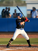 IMG Academy Ascenders Brady Neal (28) bats during a game against the Jesuit Tigers on April 21, 2021 at IMG Academy in Bradenton, Florida.  (Mike Janes/Four Seam Images)