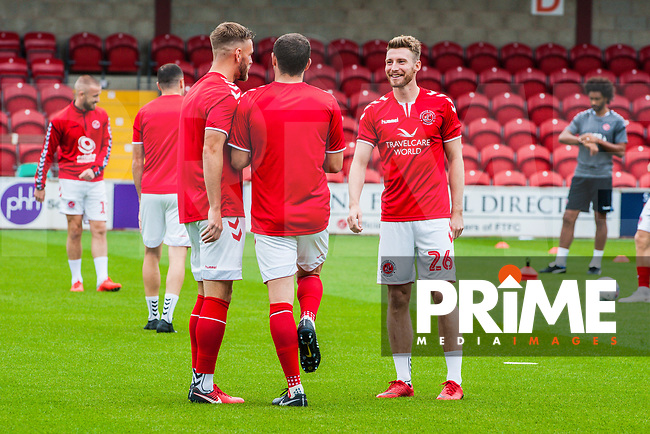 Fleetwood Town's defender James Husband (26) on his first home game during the Sky Bet League 1 match between Fleetwood Town and Bradford City at Highbury Stadium, Fleetwood, England on 1 September 2018. Photo by Stephen Buckley / PRiME Media Images.