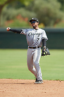 Anthony Espinoza (7) of the ACL White Sox during a game against the ACL Dodgers on September 18, 2021 at Camelback Ranch in Phoenix, Arizona. (Tracy Proffitt/Four Seam Images)