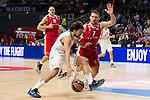 Real Madrid and Crvena Zvezda Telekom during Euroligue Basketball at Barclaycard Center in Madrid, October 22, 2015<br /> Sergio Llull and Mekel.<br /> (ALTERPHOTOS/BorjaB.Hojas)