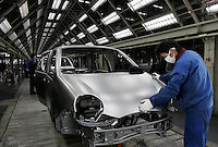 Workers operating on the assembly line of Chery Automobile Co. LTD in Wuhu, Anhui Province, China. Along with other auto makers in China, Chery is now looking overseas to sell its vehicles as stock increases and domestic margine declines. China is currently the world's 4th largest auto maker, plans to boost vehicle and automobile components exports by 15 folds to more than 120 billion yuan (15 billion US) in the next 10 years..18 Jan 2006