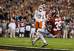 Alabama Levi Wallace (39) downs an Alabama punt at the Clemson one yard line in the first half of the 2017 College Football Playoff National Championship in Tampa, Florida on January 9, 2017.  Photo by Mark Wallheiser/UPI