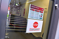 30th May 2020, Allianz Arena, Munich, Germany; Bundesliga football; Bayern Munich versus Fortuna Dusseldorf; Warmings posted at the stadium entrace regarding precautions for the Covid-19 pandemic