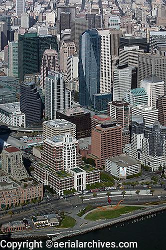 aerial photograph of Gap headquarters, Millennium tower, Rincon Plaza, 50 Fremont Center, San Francisco, California