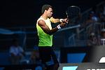 Gael Monfils (FRA) wins at Australian Open in Melbourne Australia on 17th January 2013