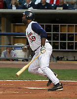 August 31, 2003:  Ernie Young of the Toledo Mudhens, Class-AAA affiliate of the Detroit Tigers, during a International League game at Fifth Third Field in Toledo, OH.  Photo by:  Mike Janes/Four Seam Images