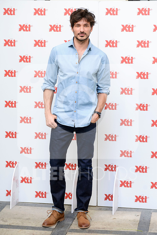 Spanish model Andres Velencoso attends to the presentation of new summer campaign of XTI in Madrid, June 02, 2017. Spain.<br /> (ALTERPHOTOS/BorjaB.Hojas)