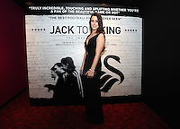 """Pictured: Lucie Jones. Friday 12 September 2014<br /> Re: Premiere of """"Jack To A King"""" a film about the history of Swansea City Football Club, at The Empire Cinema in Leicester Square, London, UK."""