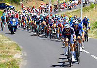 July 9th 2021. Carcassonne, Languedoc, France;  VAKOC Petr (CZE) of ALPECIN-FENIX, DECLERCQ Tim (BEL) of DECEUNINCK - QUICK-STEP  leading the peloton during stage 13 of the 108th edition of the 2021 Tour de France cycling race, a stage of 219,9 kms between Nimes and Carcassonne.