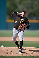 Pittsburgh Pirates starting pitcher Matt Anderson (73) delivers a pitch during a minor league Extended Spring Training intrasquad game on April 1, 2017 at Pirate City in Bradenton, Florida.  (Mike Janes/Four Seam Images)