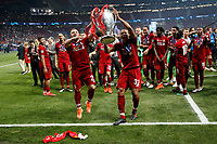 Joel Matip of Liverpool and Xherdan Shaqiri of Liverpool celebrate after the UEFA Champions League Final match between Tottenham Hotspur and Liverpool at Wanda Metropolitano on June 1st 2019 in Madrid, Spain. (Photo by Daniel Chesterton/phcimages.com)<br /> Foto Daniel Chesterton PHC/ Insidefoto <br /> ITALY ONLY